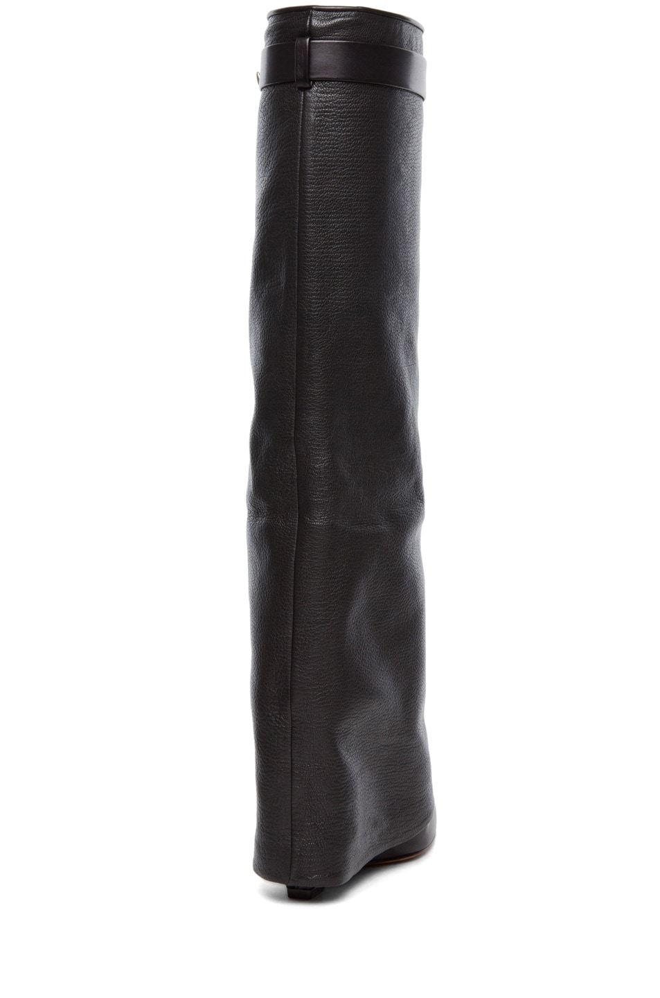 Image 3 of Givenchy Shark Lock Fold Over Wedge Boots in Black