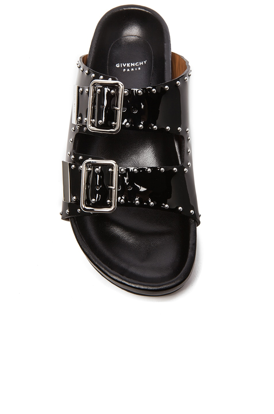 a69ffad6d074 Image 4 of Givenchy Swiss Studs Patent Leather Sandals in Black