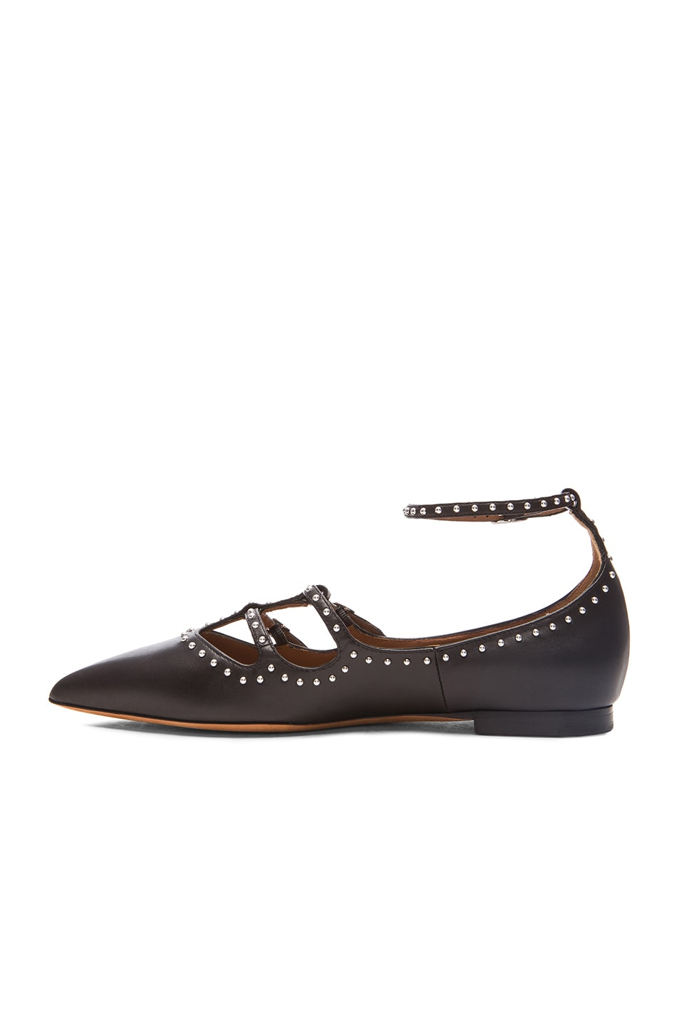 Givenchy Leather Studded Flats store with big discount sale 2015 VkpyCXNRfR