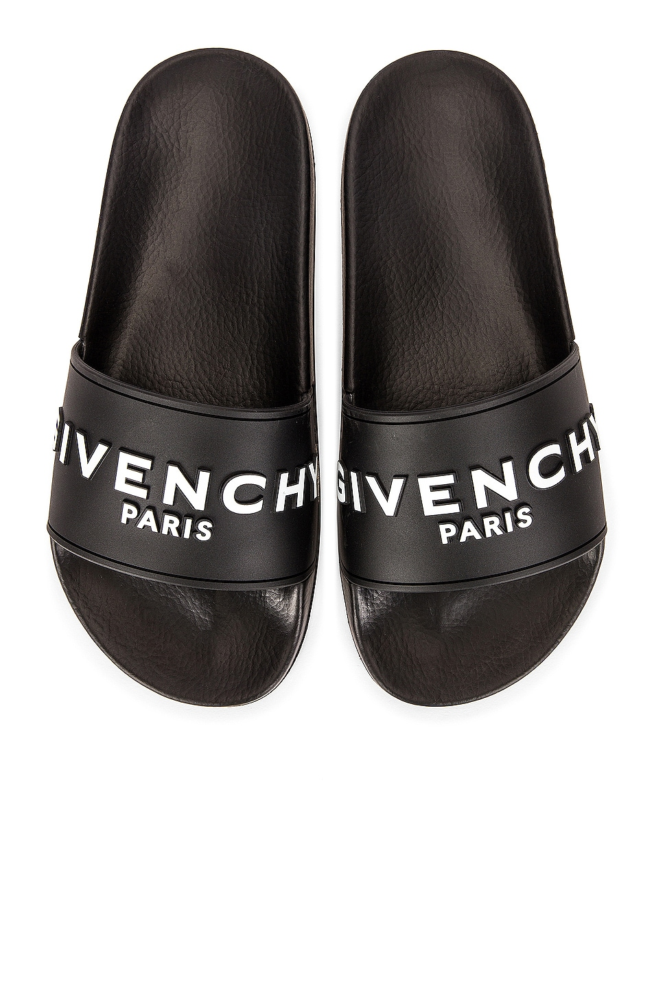 Image 1 of Givenchy Logo Pool Slides in Black
