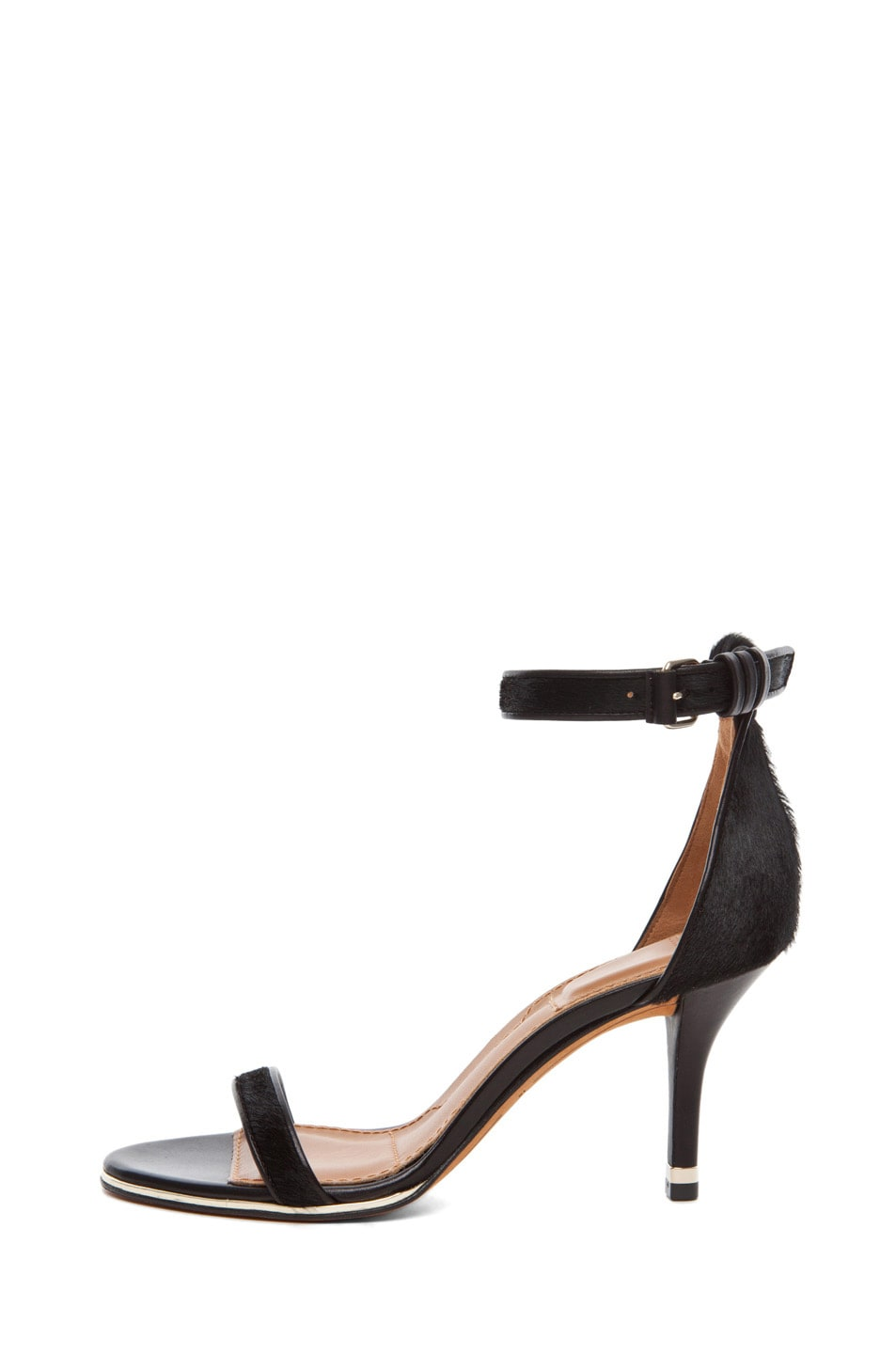 Image 1 of Givenchy Classic Pony Leather Heel in Black