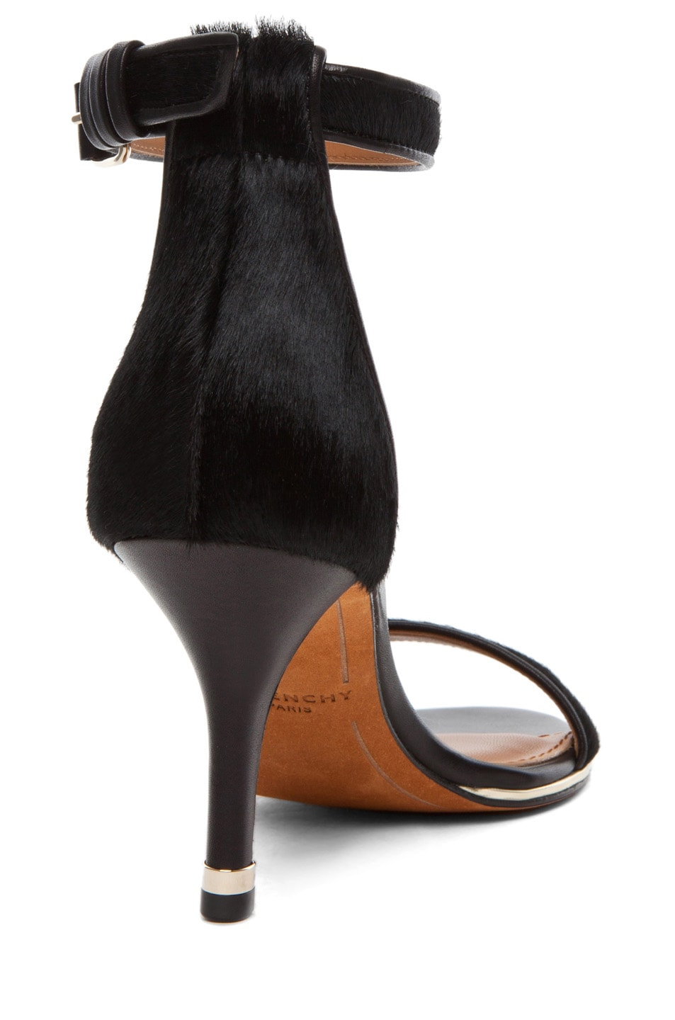 Image 3 of Givenchy Classic Pony Leather Heel in Black