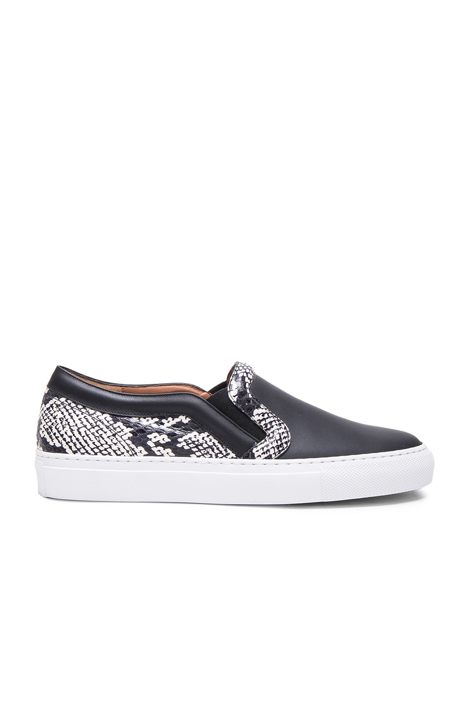 Image 1 of Givenchy Low Skate Elaphe Sneakers in Black & White
