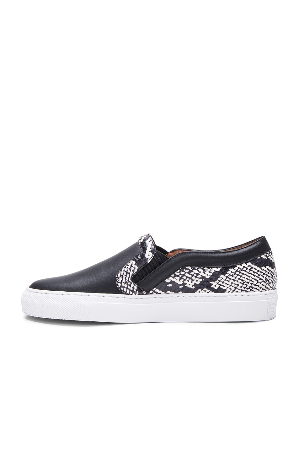 Image 5 of Givenchy Low Skate Elaphe Sneakers in Black & White