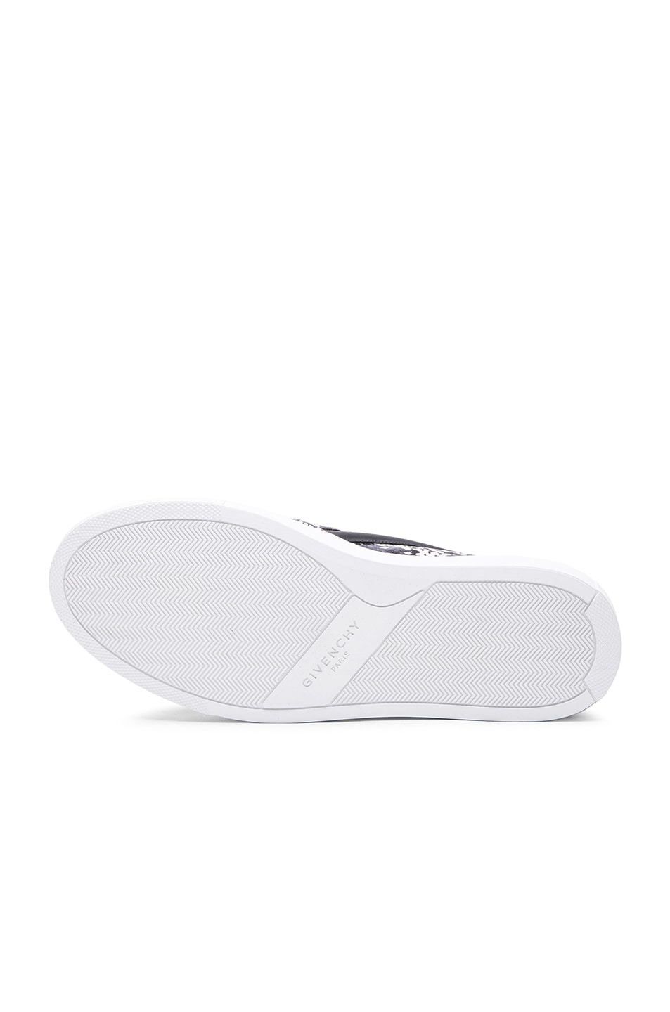 Image 6 of Givenchy Low Skate Elaphe Sneakers in Black & White