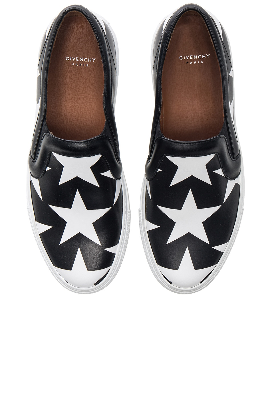 Image 1 of Givenchy Star Print Skate Sneakers in Black & White