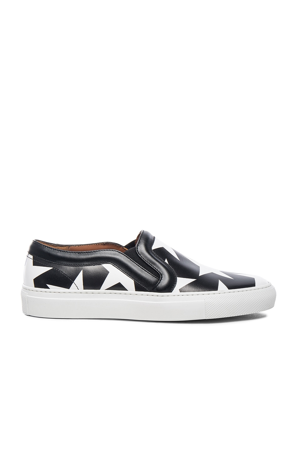 Image 2 of Givenchy Star Print Skate Sneakers in Black & White