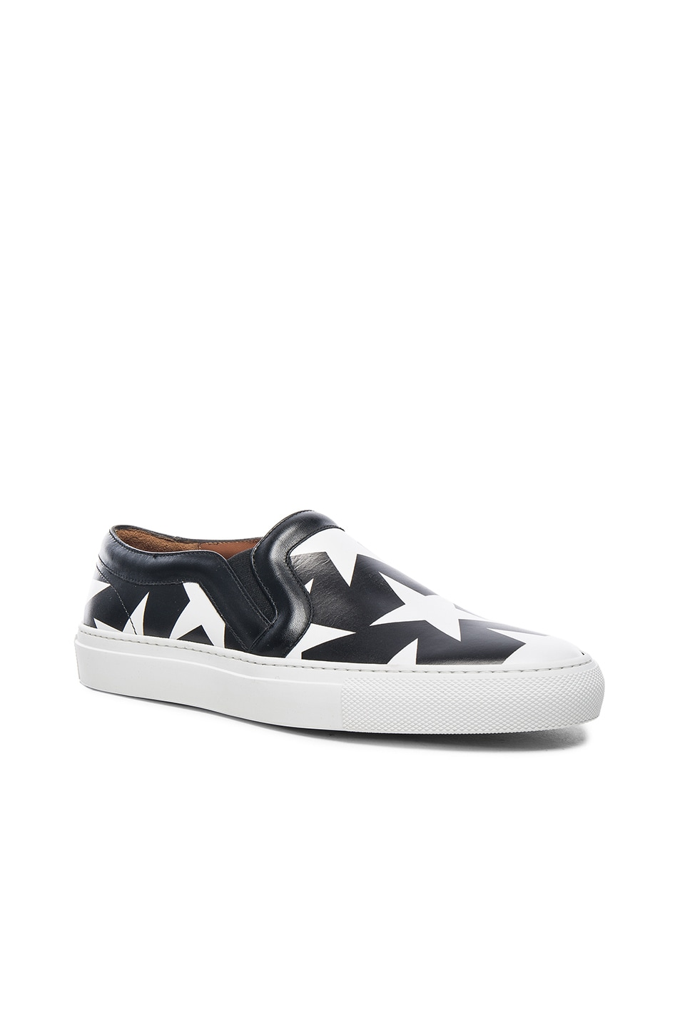 Image 3 of Givenchy Star Print Skate Sneakers in Black & White