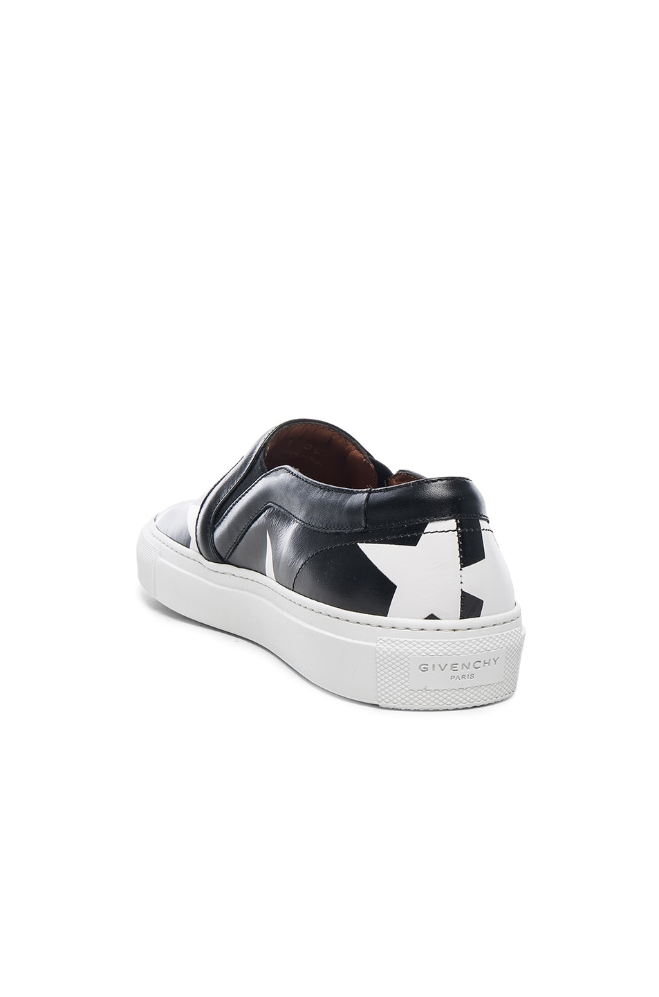 Image 4 of Givenchy Star Print Skate Sneakers in Black & White