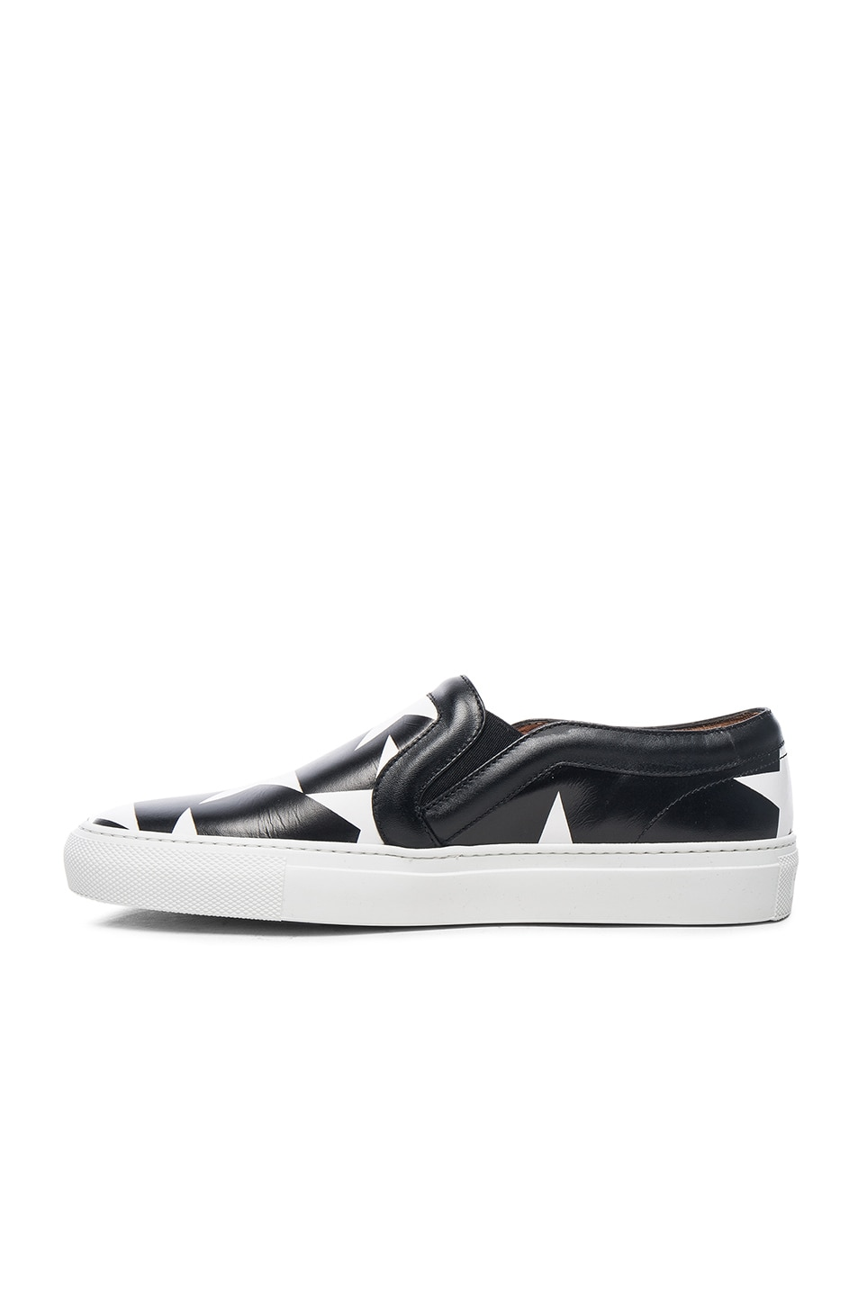 Image 5 of Givenchy Star Print Skate Sneakers in Black & White