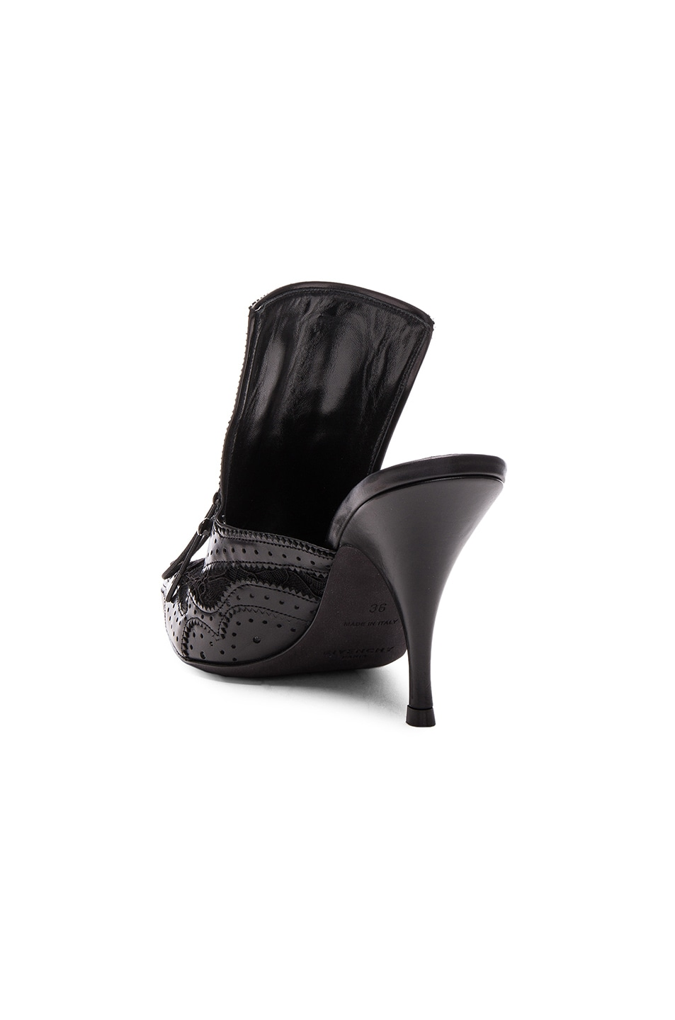 Image 3 of GIVENCHY Leather Runway Mules in Black