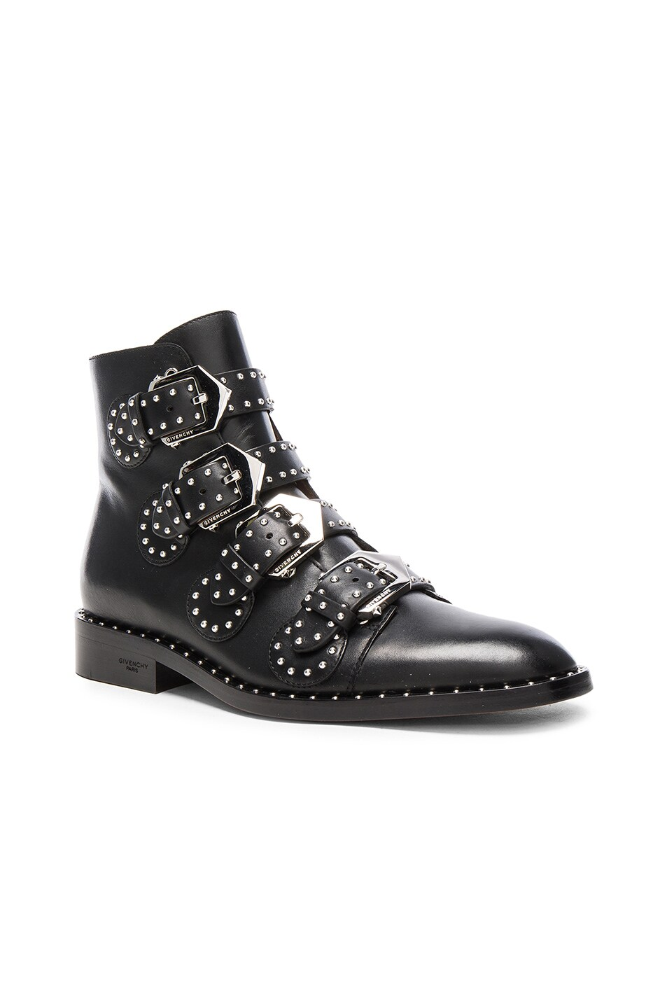 ec75737e8e8 Givenchy Elegant Studded Leather Ankle Boots in Black | FWRD