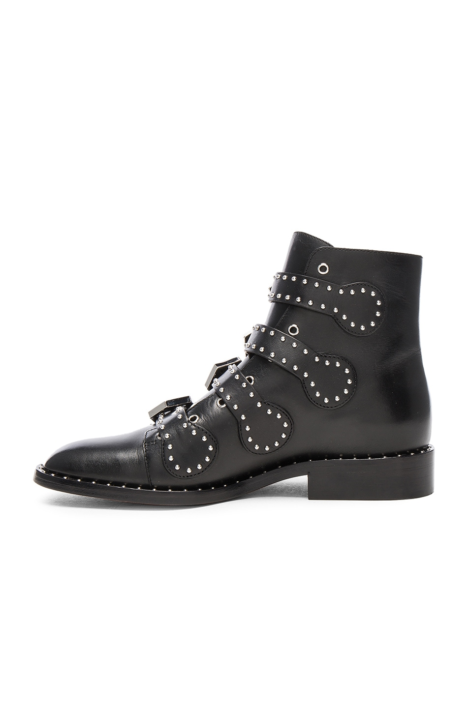 4337ff0e7eb15 Image 5 of Givenchy Elegant Studded Leather Ankle Boots in Black