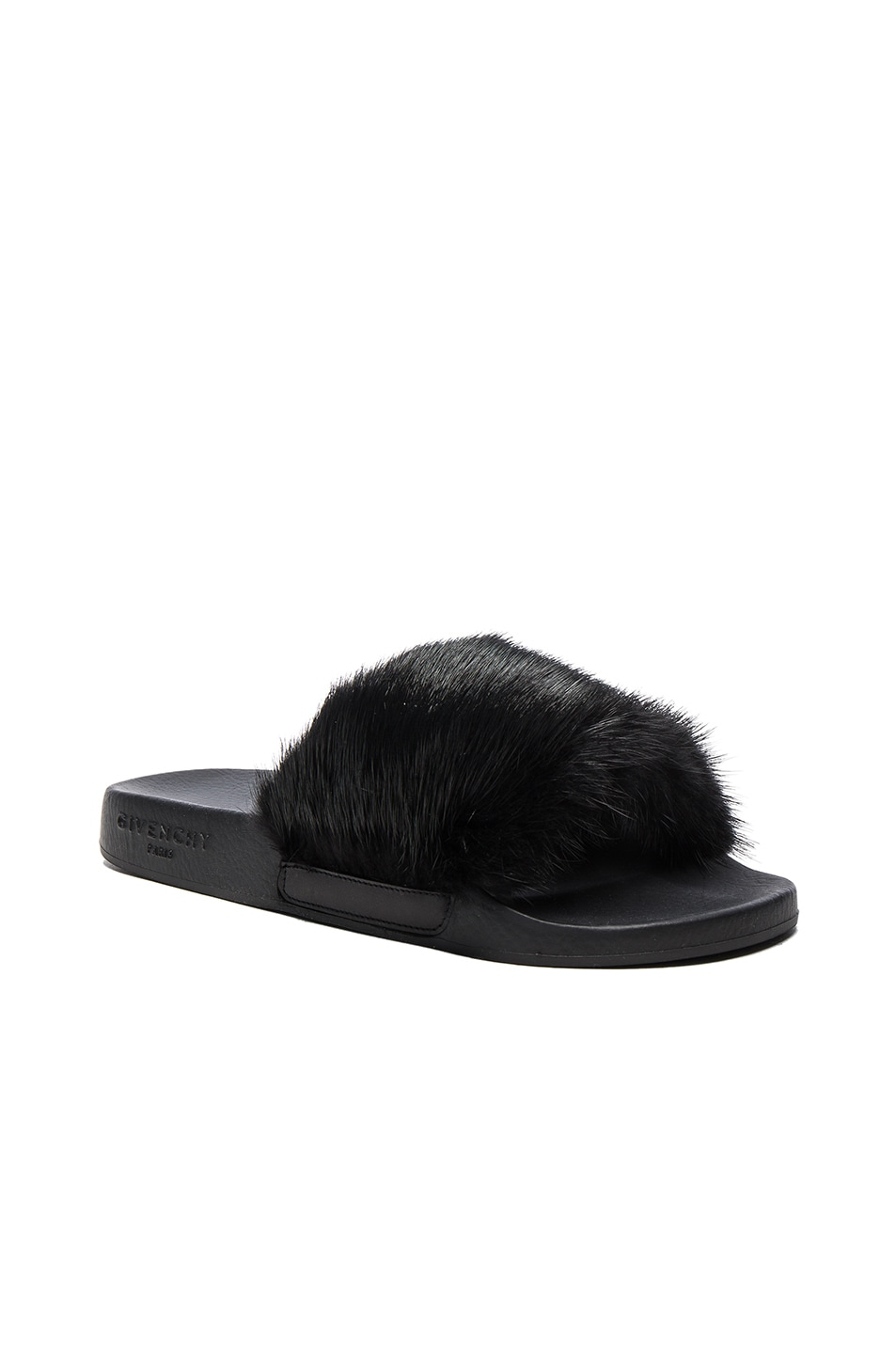 Image 2 of Givenchy Mink Fur Slides in Black