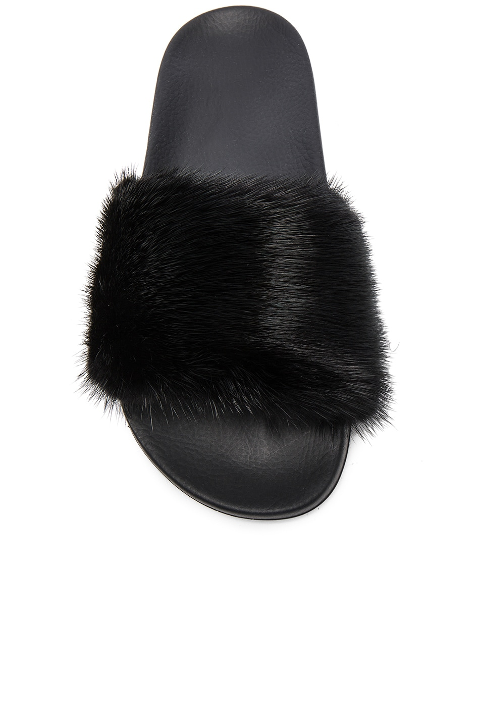 Image 4 of Givenchy Mink Fur Slides in Black