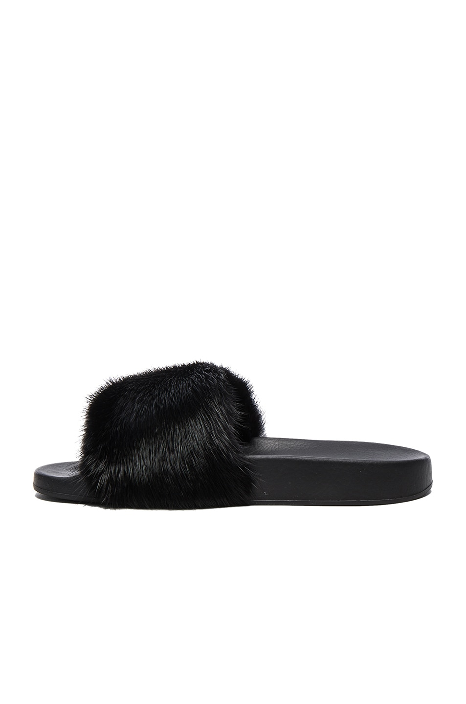 Image 5 of Givenchy Mink Fur Slides in Black