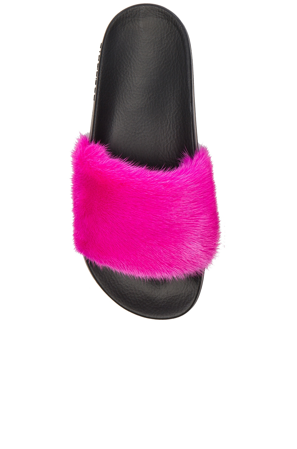 Image 4 of Givenchy Mink Fur Slides in Fuchsia