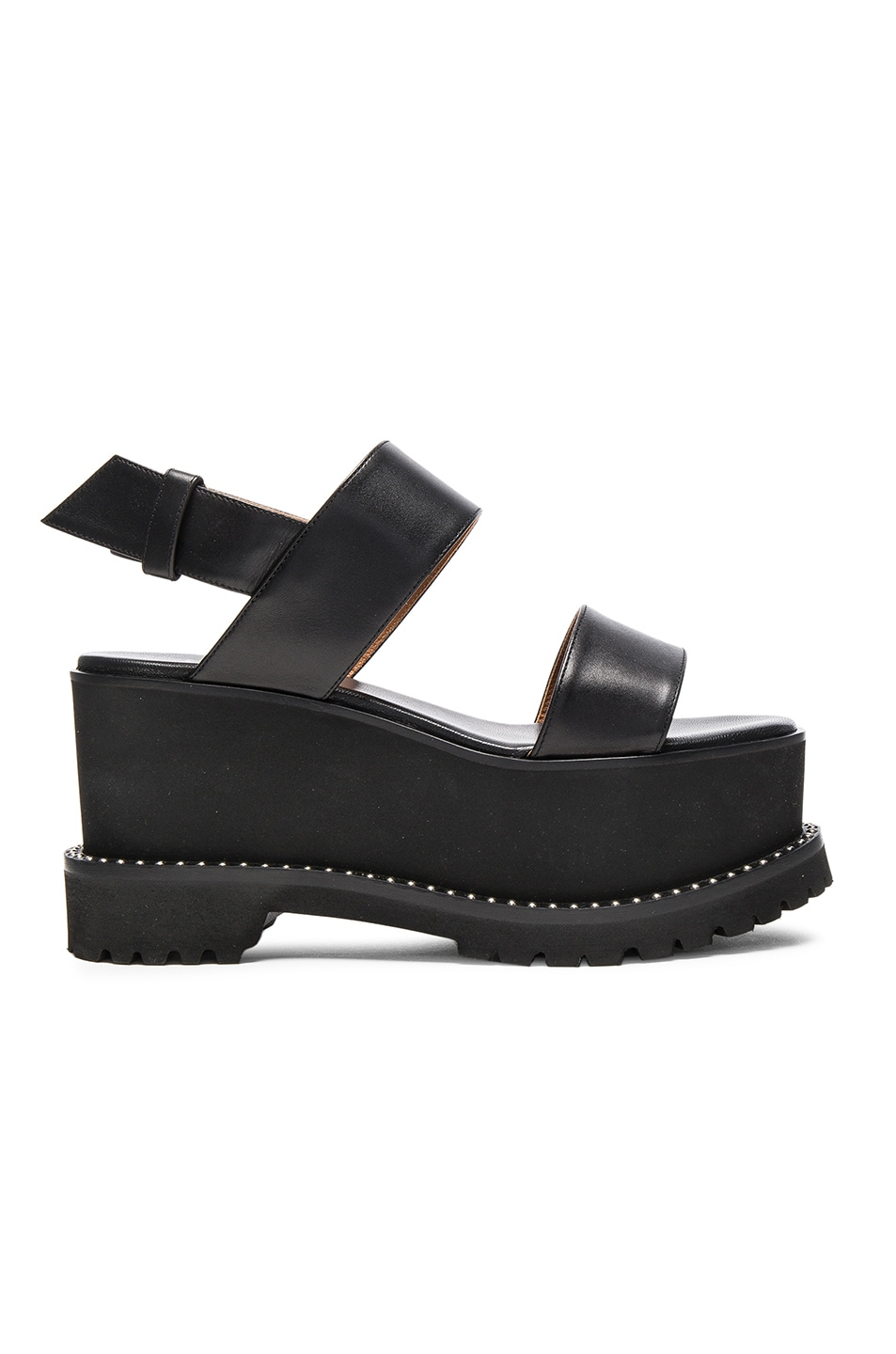 Image 1 of Givenchy Leather Ursa Flatform Sandals in Black