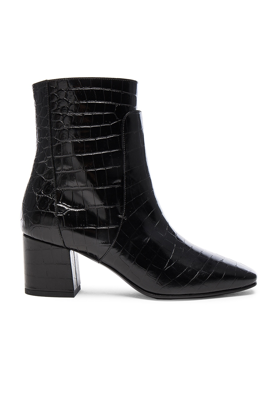 Image 1 of Givenchy Paris Croc Embossed Ankle Boots in Black