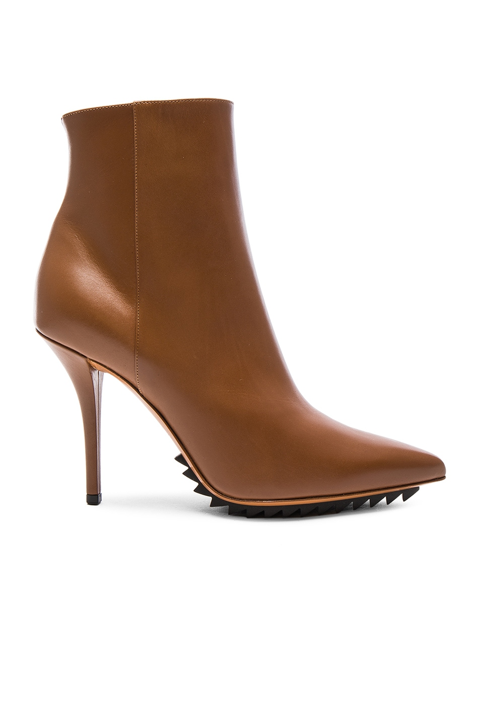 Image 1 of Givenchy Iron Ankle Leather Booties in Camel