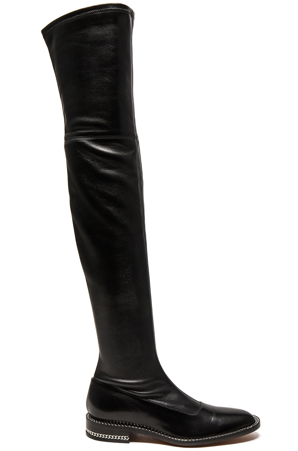 Image 1 of Givenchy Stretch Leather Over The Knee Boots in Black