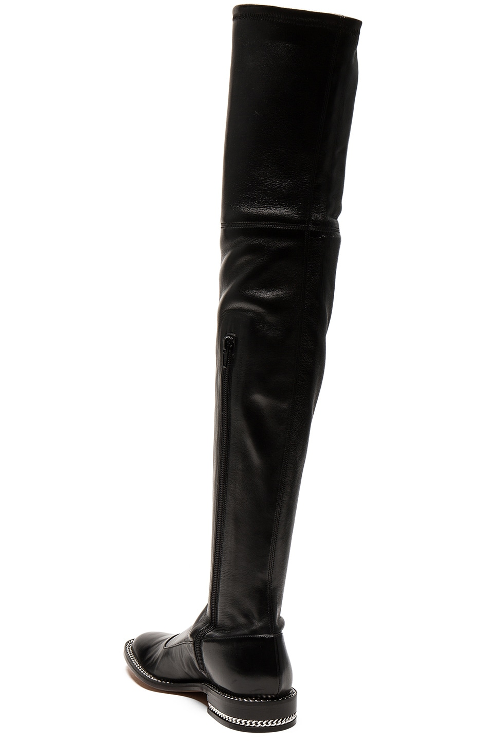 Image 3 of Givenchy Stretch Leather Over The Knee Boots in Black