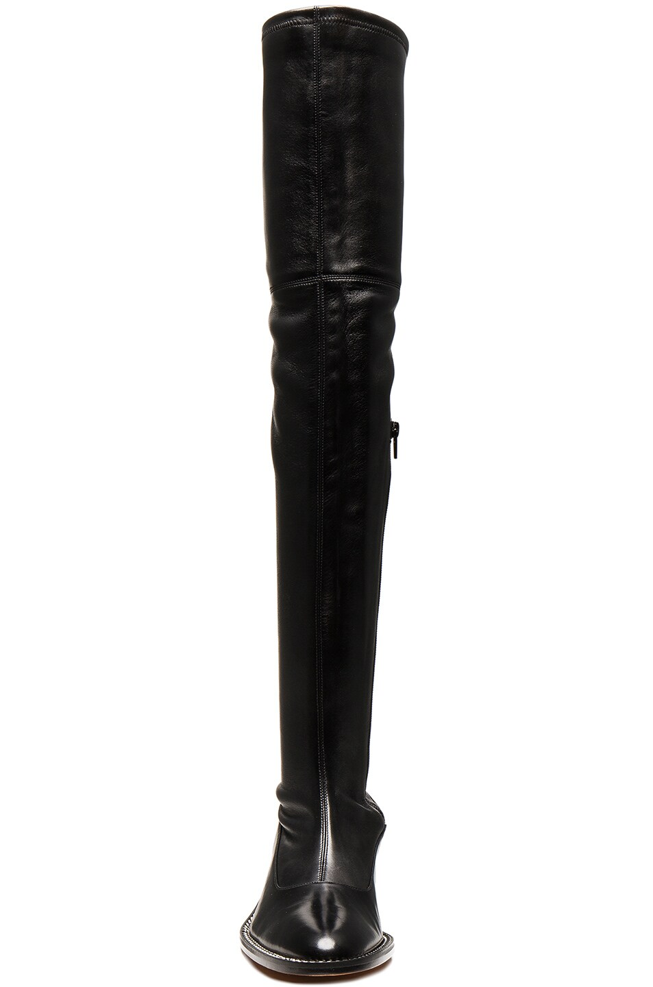 Image 4 of Givenchy Stretch Leather Over The Knee Boots in Black