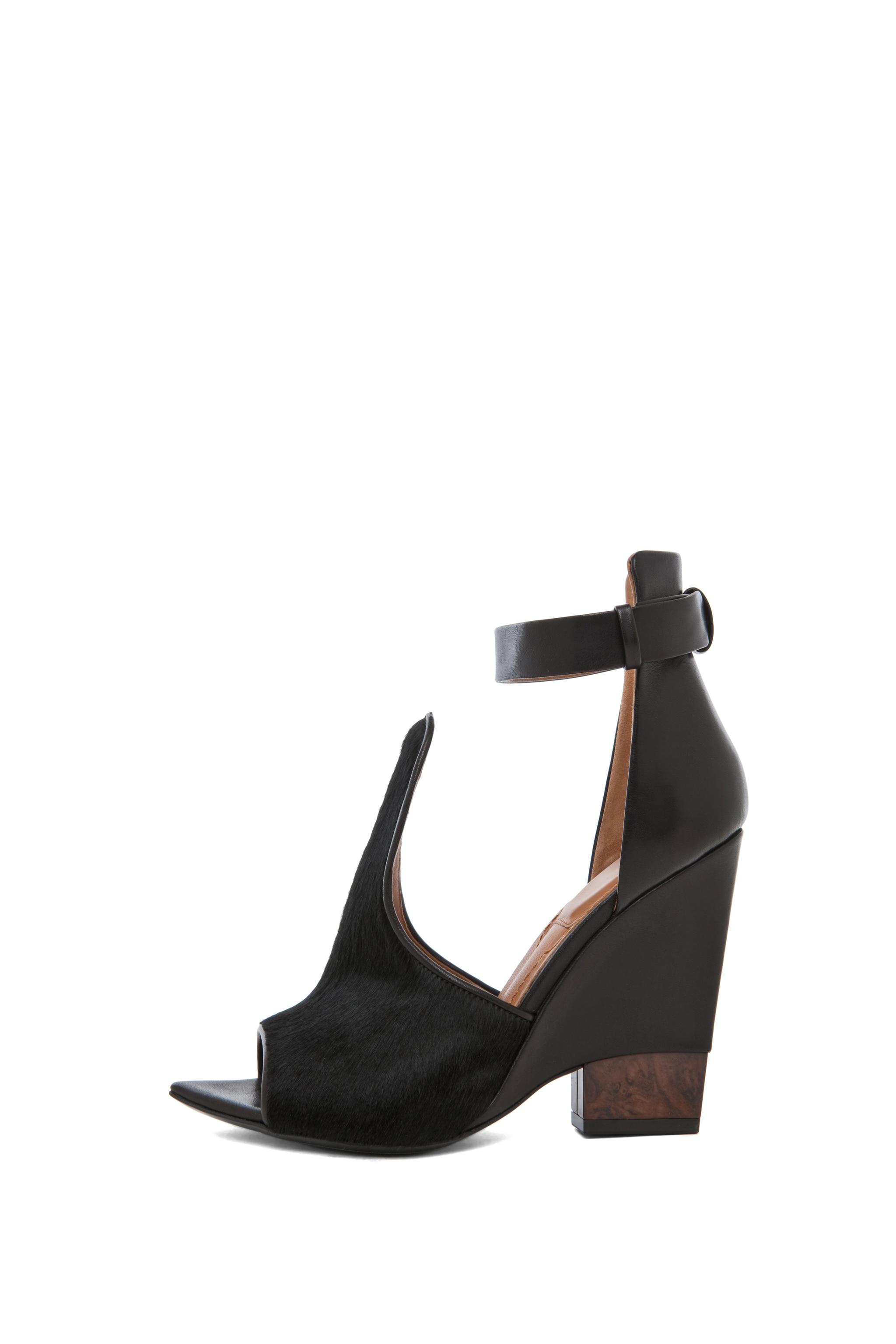 Image 1 of GIVENCHY Podium Ankle Strap Sandal in Black