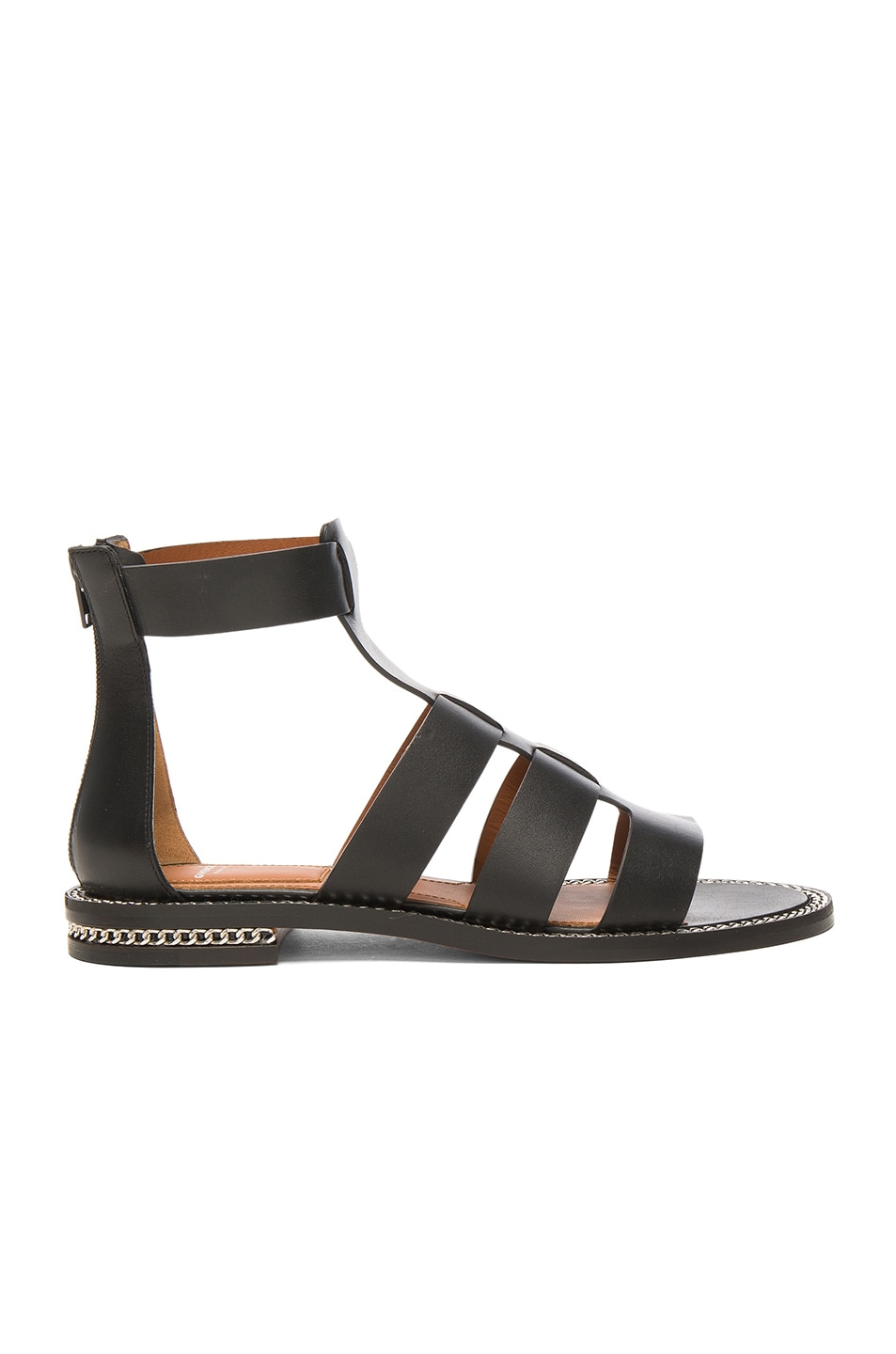 Image 1 of Givenchy Leather Gladiator Sandals in Black