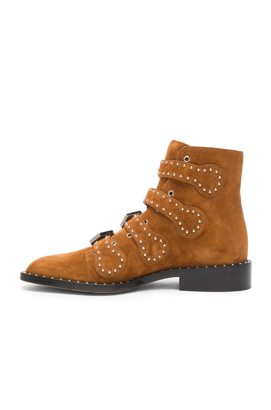 Image 5 of Givenchy Elegant Studded Suede Ankle Boots in Caramel