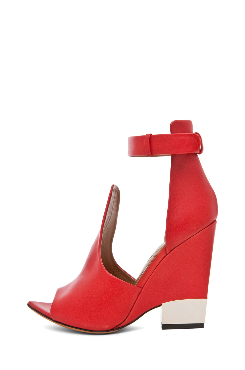 Image 1 of GIVENCHY Podium Ankle Strap Sandal in Nappa Red