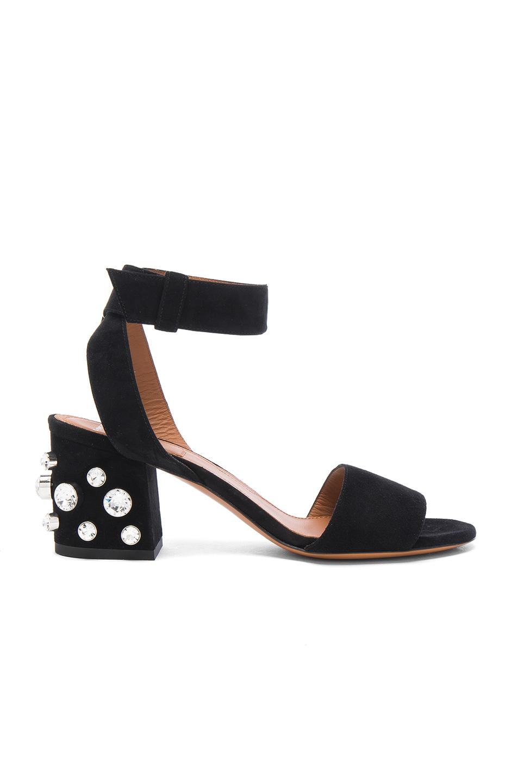 Image 1 of Givenchy Crystal Embellished Sandals in Black