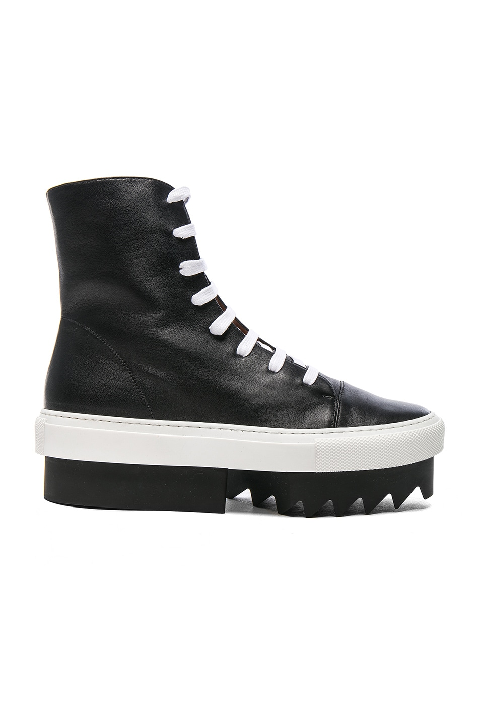 Image 1 of Givenchy Lace Up Platform Skate Sneaker in Black