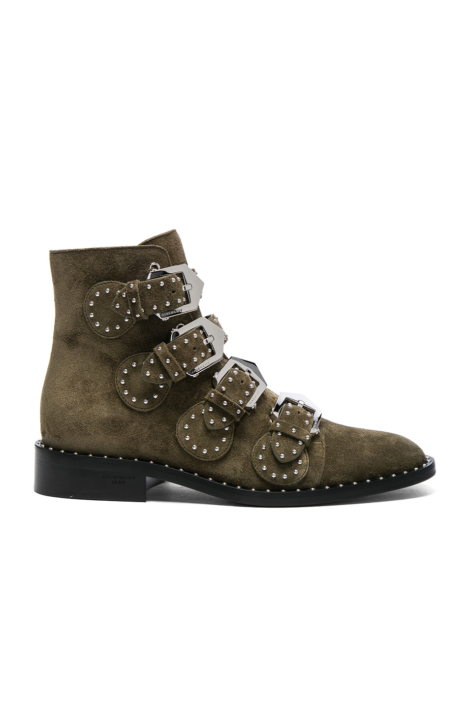Image 1 of Givenchy Elegant Studded Suede Ankle Boots in Khaki