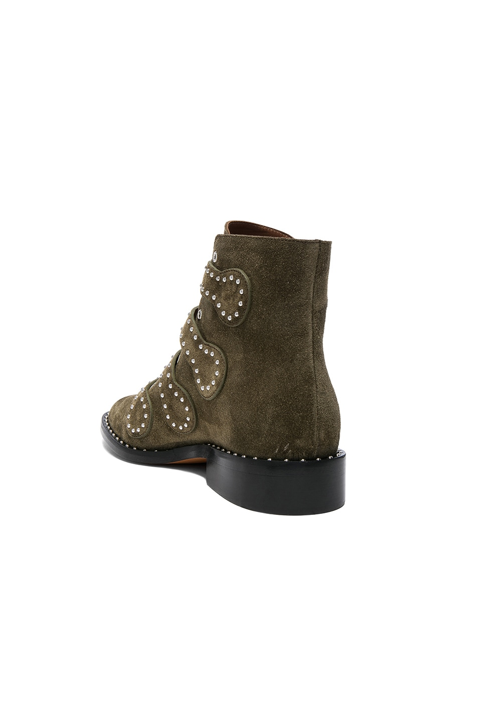 Image 3 of Givenchy Elegant Studded Suede Ankle Boots in Khaki