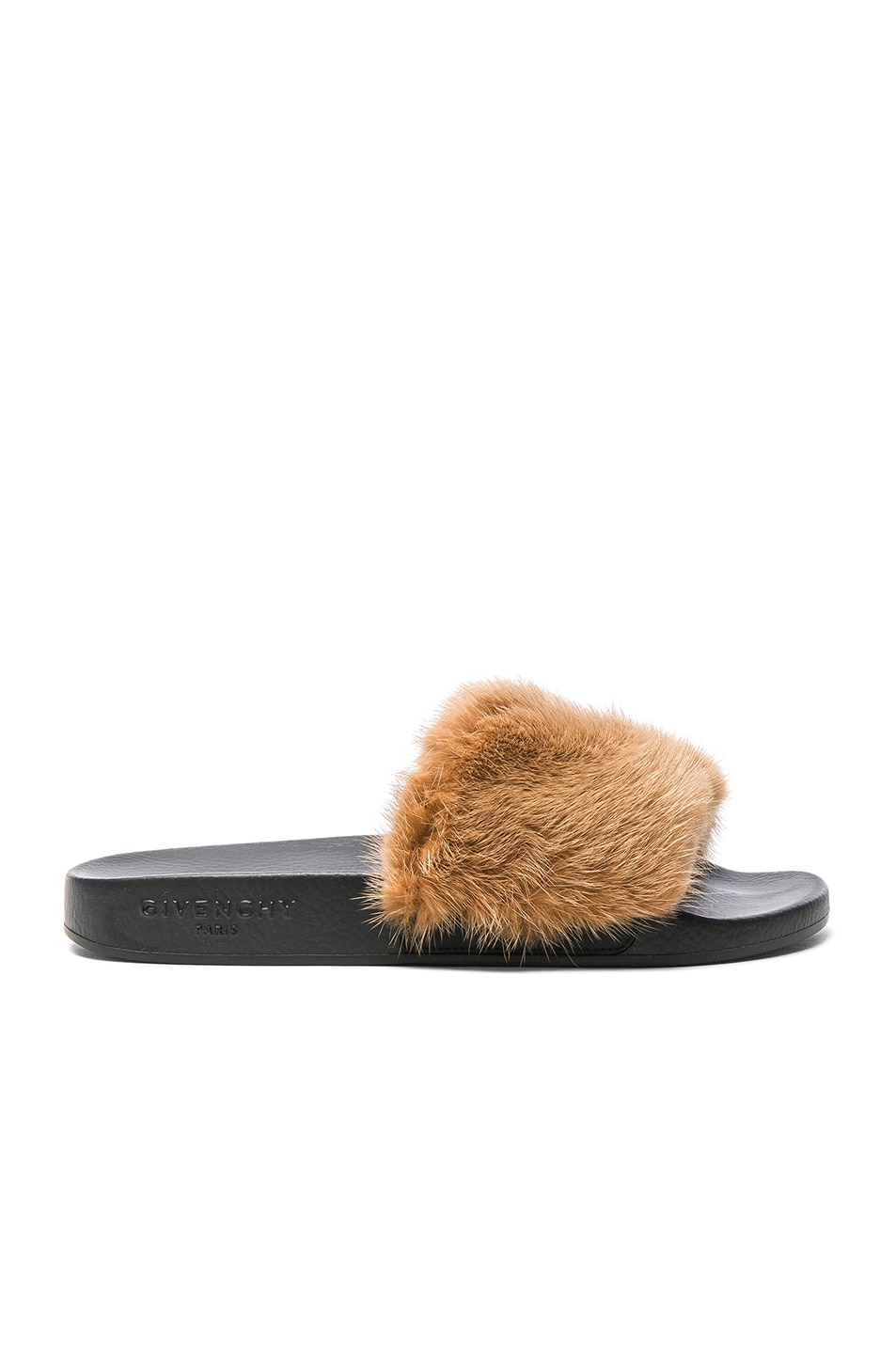 Image 1 of Givenchy Mink Fur Slides in Tan