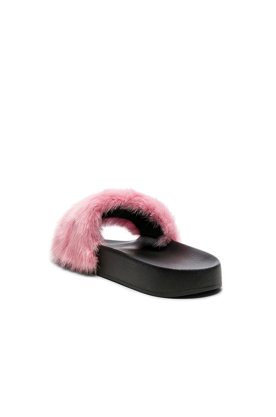 Image 3 of Givenchy Mink Fur Slides in Bright Pink
