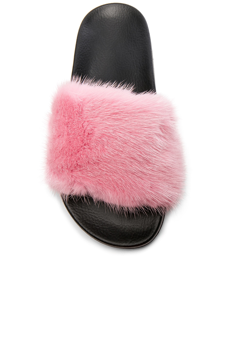 Image 4 of Givenchy Mink Fur Slides in Bright Pink