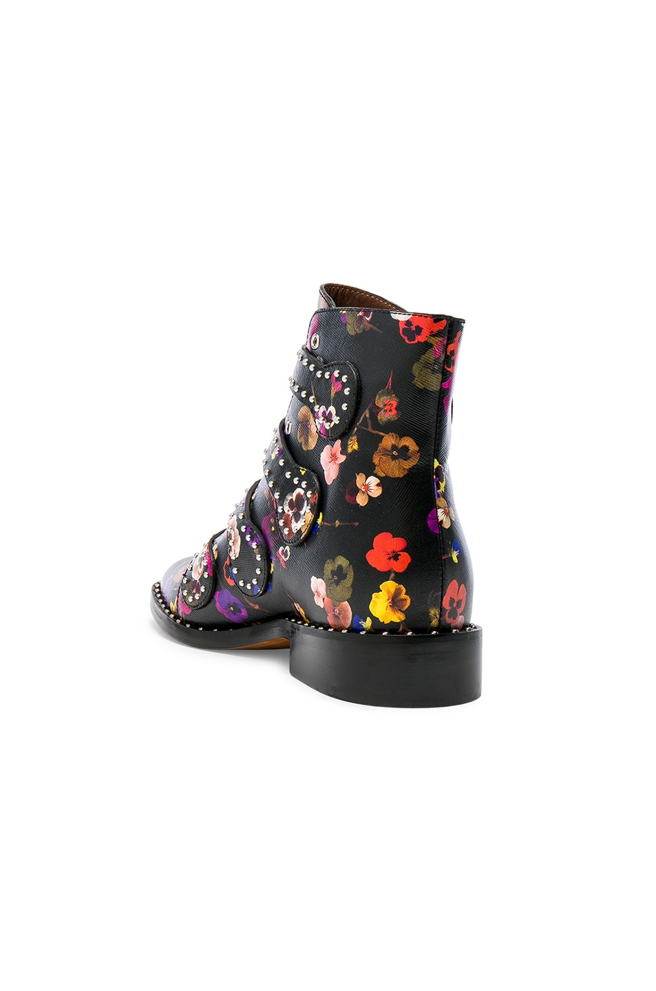 0c1428f9e60 Givenchy Night Pansies Elegant Studded Leather Ankle Boots in Multi ...