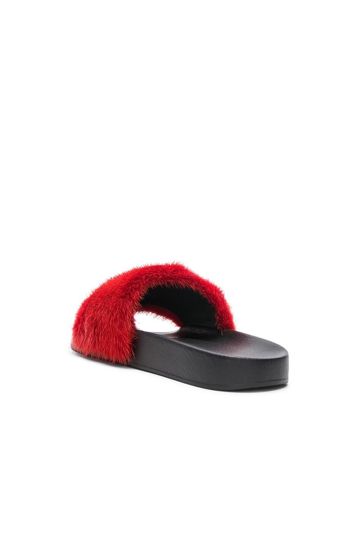 Image 3 of Givenchy Mink Fur Slides in Red