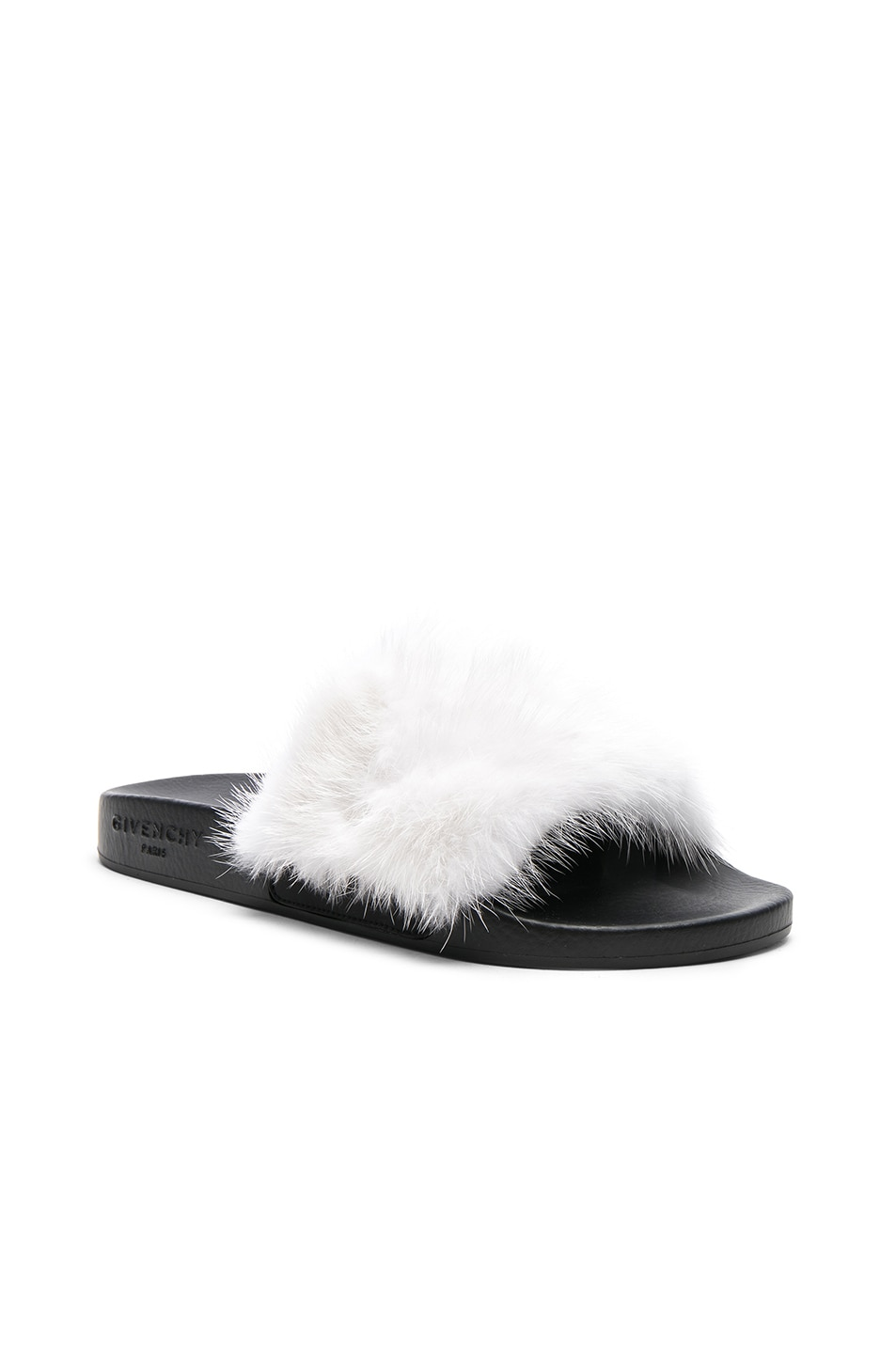 e71f07a85f1c00 Image 2 of Givenchy Mink Fur Slides in White