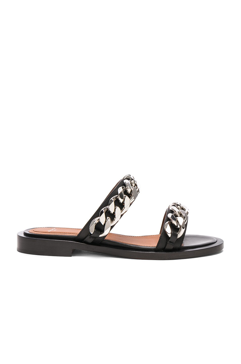 Givenchy Leather Two Strap Chain Flat Sandals in . Dqpli9WlbS
