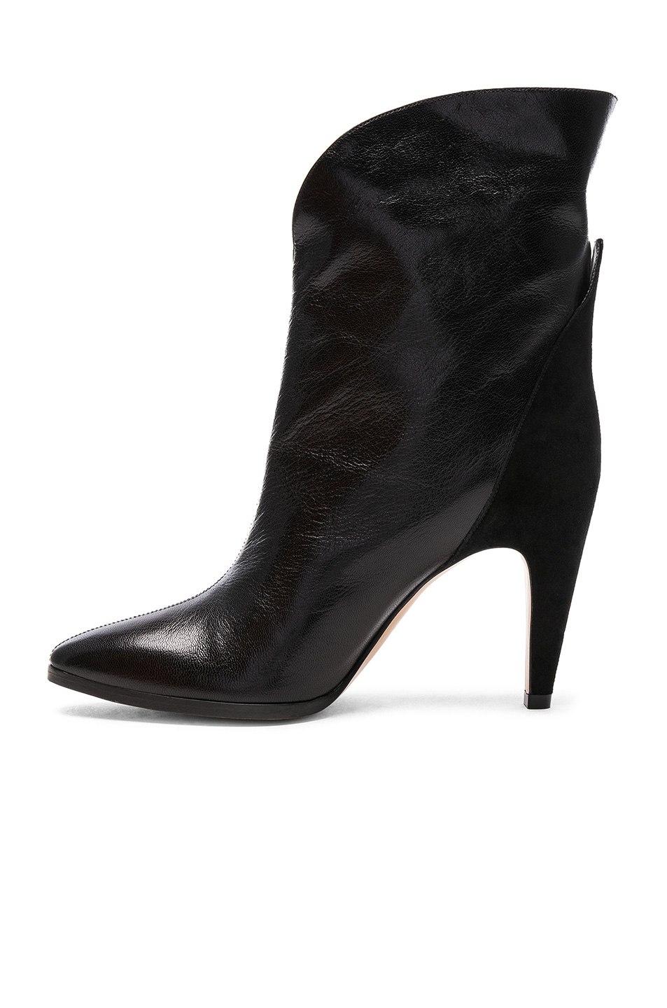 Image 5 of Givenchy Leather & Suede GV3 Mid Calf Boots in Black