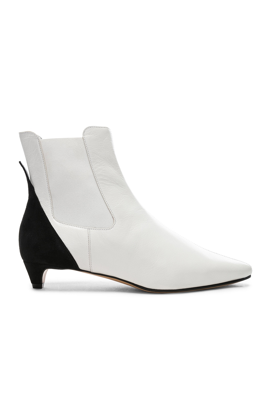Image 1 of Givenchy GV3 Chelsea Ankle Boots in White & Black