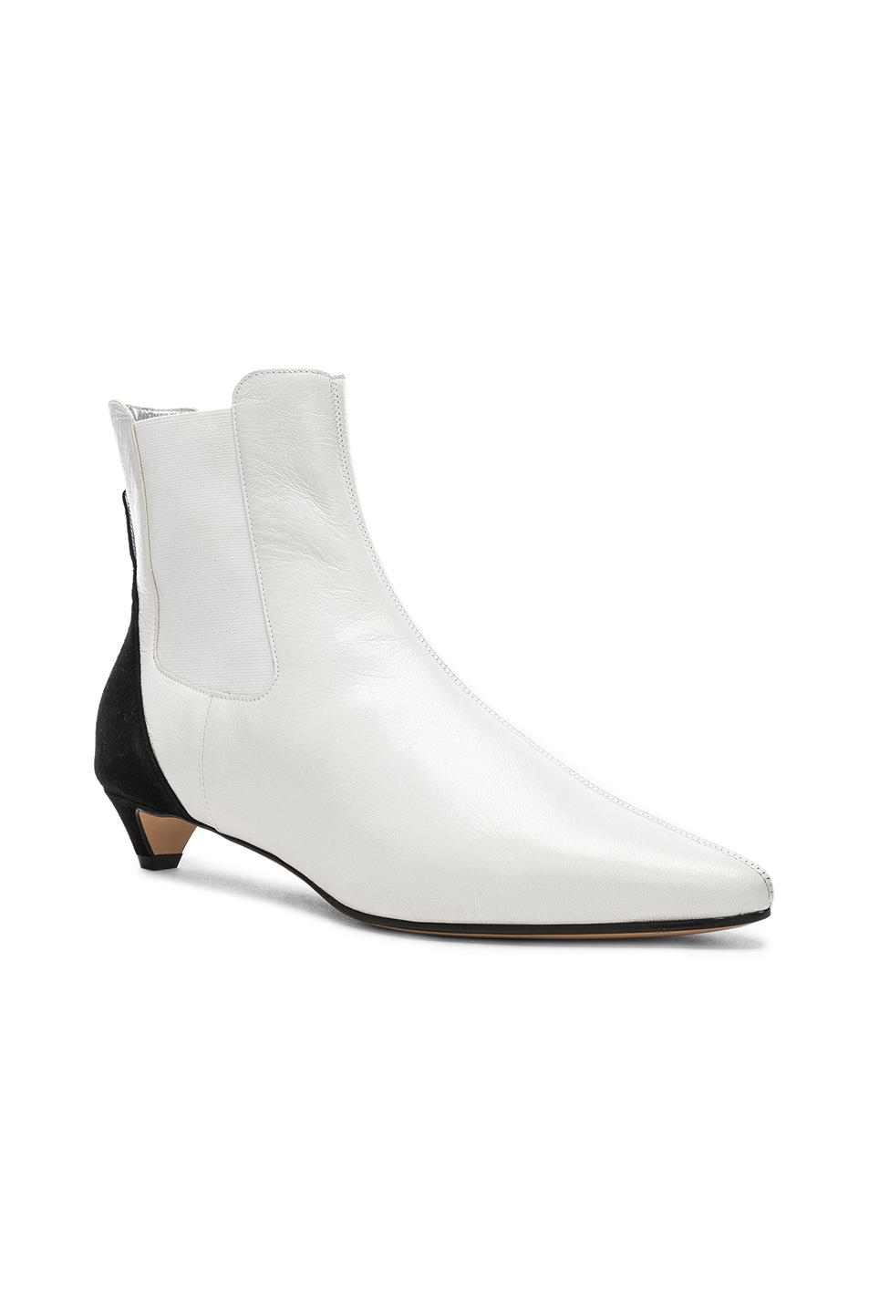 Image 2 of Givenchy GV3 Chelsea Ankle Boots in White & Black