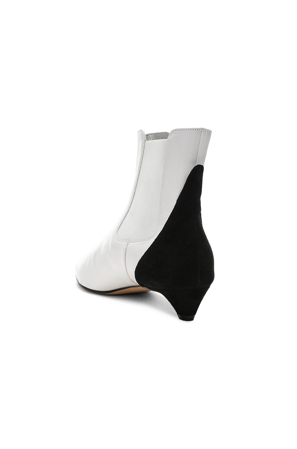 Image 3 of Givenchy GV3 Chelsea Ankle Boots in White & Black
