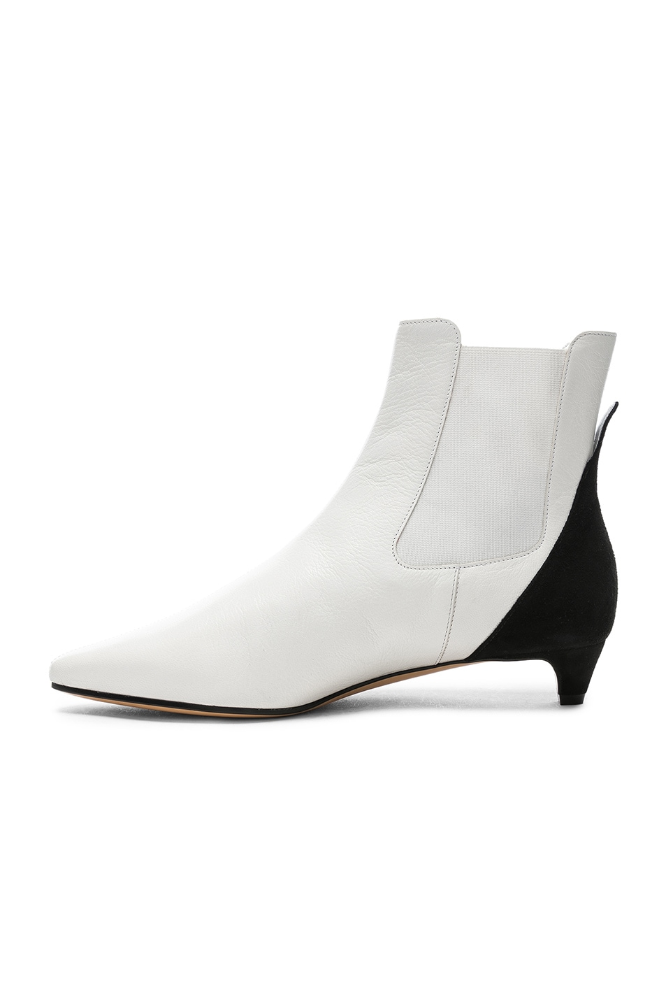Image 5 of Givenchy GV3 Chelsea Ankle Boots in White & Black