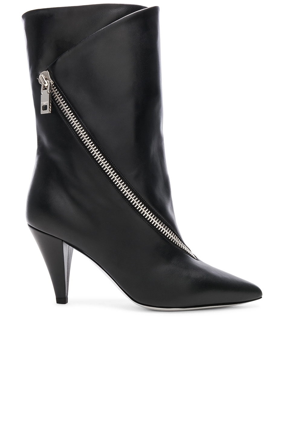 Image 1 of Givenchy Zip Leather Boots in Black