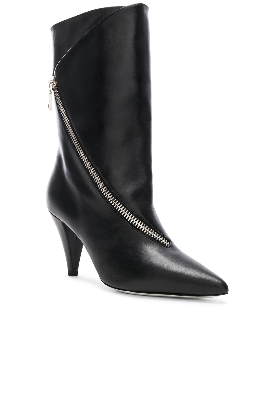 Image 2 of Givenchy Zip Leather Boots in Black