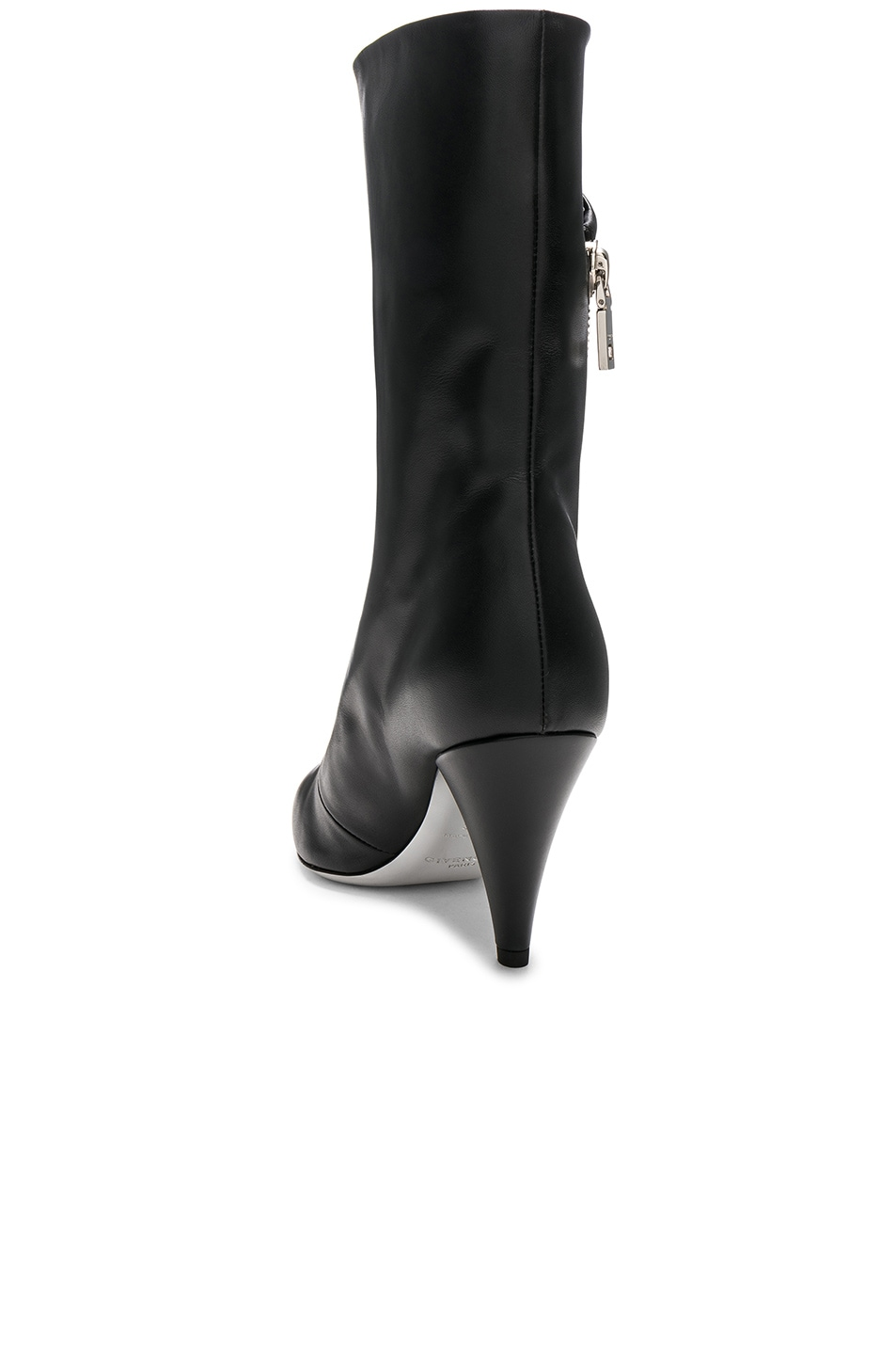 Image 3 of Givenchy Zip Leather Boots in Black